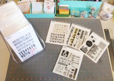 stamps in Avery Elle pockets