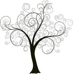 """Beautiful swirly tree. I'm planning on painting this on the wall and then adding pictures of our family to create a unique """"family tree."""""""