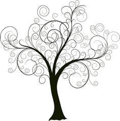 Beautiful swirly tree.