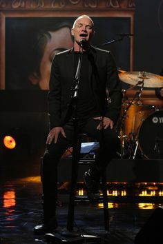 """Sting sails away during a performance on """"The Tonight Show With Jay Leno"""" on Nov. 4 in Burbank, Calif."""