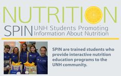Nutrition Programs at UNH Health Services are available for all UNH students. The SPIN peer education program provides interactive nutrition programming to the UNH community. #UNH