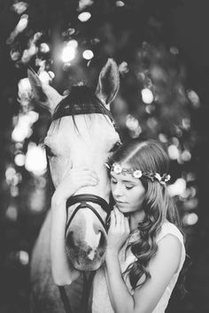 Erica Houck Photography bridal session shoot photoshoot wedding dress bride and horse fairy tail white golden light girl with horse