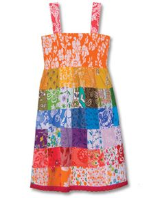 SoulFlower-Kid's Rainbow Patchwork Dress-$24.00