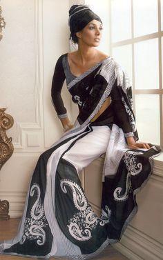 Saree Blouse,Printed Saree