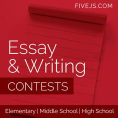 List of essay contests for high school students 2013
