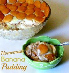 Homemade Banana Pudding | CookingwithK.net