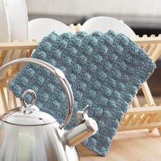 Bobble Band #Dishcloth: free #crochet pattern