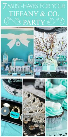 7 must-have ideas for your Tiffany & Co. party! See more party ideas at CatchMyParty.com. #tiffanys #tiffany&co
