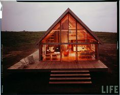 old school prefab from the LIFE archives; WOW how fabulous would this be to build this in the middle of no where!! :)