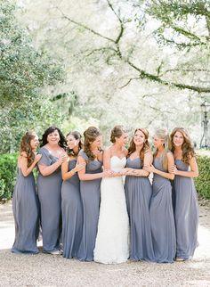 slate blue bridesmaid dresses | Chelsey Boatwright #wedding