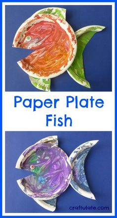 Paper Plate Fish Craft! Easy and simple kid's craft idea.