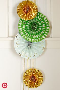 Throw a party in an instant with these Oh Joy for Target paper fan decorations.