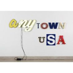 Jack Pierson, Anytown USA, 2000, found letters, painted metal, plastic letters, and neon, Dallas Museum of Art, gift of the Junior Associates