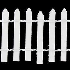 Lara's Crafts White Wood Picket Fence | Shop Hobby Lobby