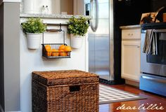 I absolutely adore this hanging basket.  Perfect in the kitchen for herbs and fresh fruit.  Keeps the counters clean too.