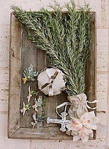 Décoration de table herbes aromatiques