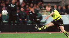 1997. Champions League Final. Turin. Lars Ricken. Substitute. First Touch. Goal. BVB wins. Those amazing BVB Fluorescent/Black kits. Amazing. And Yes, Nike.