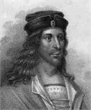 """James 5th High Steward Scotland Stewart 1243 -1309 was the son of Alexander Stewart, 4th High Steward of Scotland.  He was a Guardian of Scotland. During the Wars of Scottish Independence, he submitted to King Edward I of England. However, he joined Sir William Wallace. After the defeat of Wallace at the Battle of Falkirk 1298 he joined Robert the Bruce. James Stewart's son Walter Stewart married Robert the Bruce's daughter, Marjorie Bruce. I'll count the """"greats"""" back from me later!"""