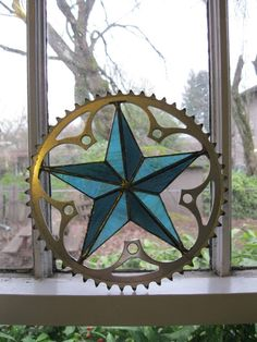 upcycle a bicycle sprocket!