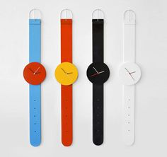 "Remember those giant Swatch watches people hung on their walls? This is the modern version. ""One size fits wall."""