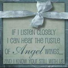 listen for the rustle of angel wings