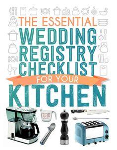 The Essential Wedding Registry Checklist For Your Kitchen kitchen