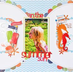 galleries, beach photos, layout idea, scrapbook summer, summer scrapbook, scrapbook photo, scrapbook layout, beach scrapbook, summer sun