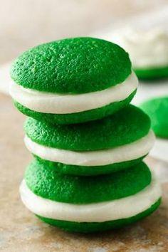 Mini green Whoopie Pies