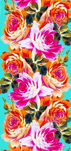 Pulling so many #color, #design ideas from this #roses #print. Make awesome #summer-only #curtains, too!