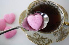 homemade heart sugar cubes