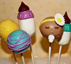 baby shower cakes, babi idea, girl cakes, cake pops, cakepop, babi shower, pop cakepinscom, cake babi, baby showers