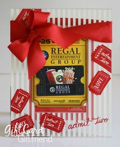 Admit TWO to this Valentine Movie Frame Gift Card Holder. See blog post for other ideas.