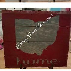 Red/gray Ohio sign !
