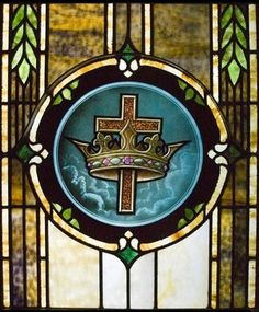 Christ the King Stained Glass Window at the Catholic Cathedral of St. Mary's, Amarillo, Texas