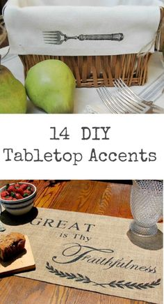 14 DIY Tabletop Accents to make yourself!