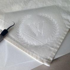 Silhouette Tutorial   DIY Monogram Napkins using Reusable Stencil Material