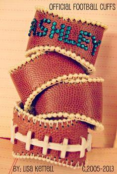 Custom Football Cuffs the Original Touchdown cuff Lisa Kettell