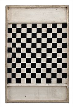 black and white gameboard...