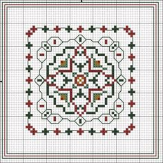 Flores no Jardim - Lee Albrecht: Natal 2013 - Free Pattern Cross Stitch