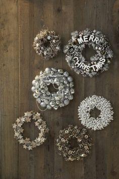 Witte/natuurlijke Kerstkransen