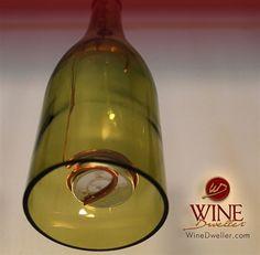 #Wine Bottle Candle Lanterns - Set of 3.