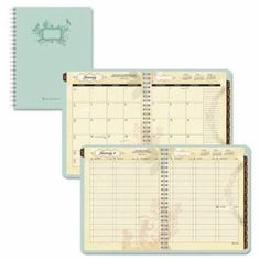 $23.22 At-a-glance Poetica Weekly/Monthly Planner, 8-1/2 x 11, Green, 2015-2016 (AAG772905)
