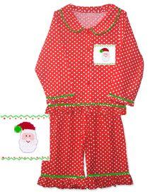 Girls Santa Christmas Pajamas