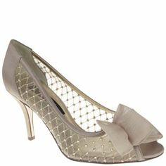 Nina FRACINE CHAMPAGNE CRYSTAL SATIN MESH by Nina Shoes
