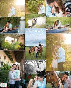 {SNEAK PEEK} Love this sweet couple from yesterdays engagement shoot!! Romance, country, lakeside, canoes, horses, mini horses, amazing buttery light... {LOVE}... Madison and Jon... Thank you for letting me capture your love! Best job in the world...