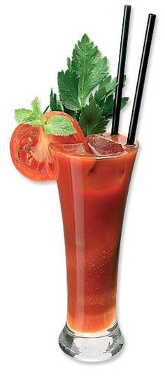 Blood Marys are one of the healthiest summertime cocktails -- Only 120 calories, the tomato juice is PACKED with antioxidants, and the horseradish/hot sauce burns off calories