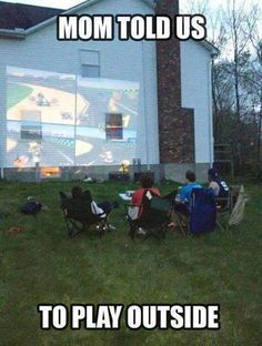 projector, mario kart, play outside, hous, cousin, son, video games, go outside, kid