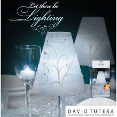 David Tutera Wedding Collection - Swirl Print Vellum Wrap Shades