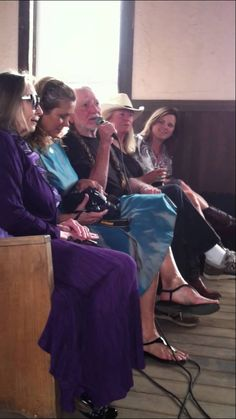 Willie Nelson sings from seat w/The Bells of Joy 2013 Easter Luck TX