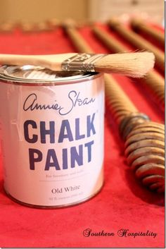 how to paint rod with Annie Sloan chalk paint southernhospitalityblog.com